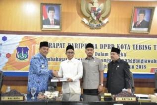 Walikota Tebingtinggi Sampaikan LKPJ anggaran Tahun 2018
