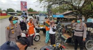 Polres Rohil Laksanakan Ops Yustisi Penegakan Hukum dan Pendisiplinan Prokes Covid-19