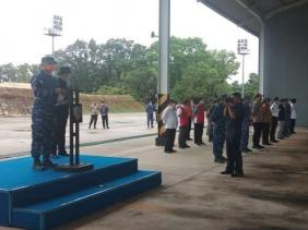 HUT TNI AU ke-74, Lanud RSN Semprot Disinfektan Jalan Protokol