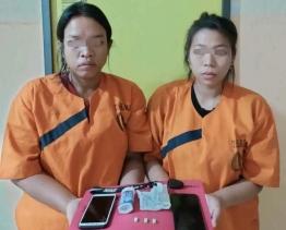 Dua Wanita Diduga Pemakai Inex di Amankan Polsek Peranap