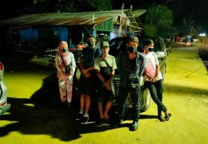 Pos Penyekatan Peniadaan Mudik Sat Lantas Polres Rohil di Perbatasan Sumut- Riau