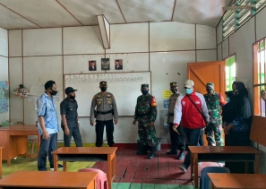 Kunjungan Tim Covid-19 Dalam Rangka PPTM Semester Genap di Wilkum Polsek Panipahan
