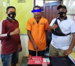 Edarkan Sabu Dari Sebuah Barak, Seorang Buruh Tani di Bekuk Tim Opsnal Polsek Pujud di Pondok Kresek
