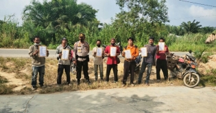 SatBinmas Polres Inhu Sosialisasi Maklumat Kapolda Riau Bersama Porbi Inhu