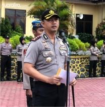 Polres Aceh Tamiang,  Berhentikan 9 Oknum Polri Melalui Upacara PTDH