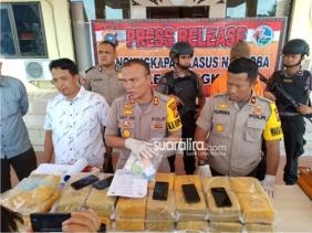 Polres Bengkalis Gelar Pers Release Tangkapan  Narkoba