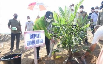 Bupati Sergai Hadiri Tanam Perdana di Kebun Tanah Raja PTPN III