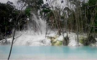 Bukan Turki, Ini Kawah Putih di Sumatera Utara