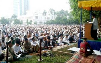 Wako Dumai Shalat Ied di Masjid Taqwa
