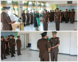 Kajari Aceh Tamiang Pimpin Upacara Serah Terima Jabatan Kasi Intelijen