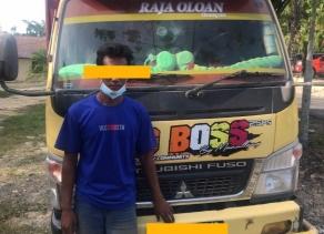 Gelapkan TBS Milik PT Jatim Jaya Perkasa 2, Sopir Truck di Gelandang Ke Polres Rohil