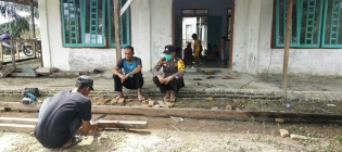 Giat Sambang Warga Polsek Panipahan di Dusun Perjuangan