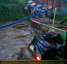 Sungai Cibuntu Meluap, Banjir Melanda Cicurug
