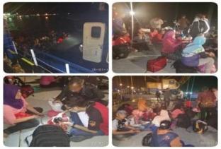 Lima Pompong Angkut Ratusan TKI Ilegal Diamankan Kantor Imigrasi Dumai