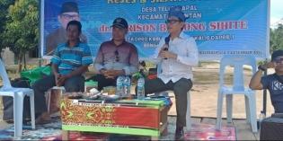 Dalam Resesnya, dr Moris Serap Aspirasi Warga Desa Papal Kecamatan Bantan