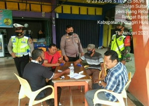 Babinsa Kodim 0302/Inhu Patroli Gabungan Dalam Rangka Penegakan  Disiplin Prokes