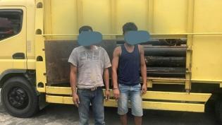 Dua Buruh Pencuri Besi Milik PT. CPI, Dibekuk Reskrim Polsek Mandau