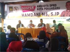 Ketua DPRD Kota Pekanbaru Gelar Sosialisasi Peraturan Daerah