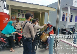 Giat Program Gerakan Jaga Kampung di Wilayah Hukum Polsek Panipahan