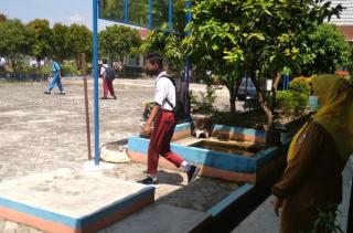 Kegiatan Belajar Tatap Muka di SMP N 39 Tetap Disiplin Menerapkan Prokes