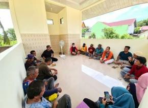 Parisman Ihwan Tinjau Perkembangan Pembangunan Panti Asuhan IKB SMPN 5 Pekanbaru