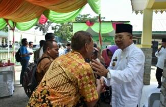 Jajaran Pemkab Serdang Bedagai Halal Bihalal Bersama Warga Kecamatan Sipispis dan Dolok Merawan
