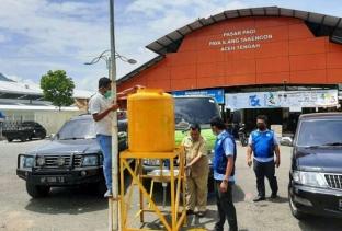Pemkab Aceh Tengah Sediakan Tempat Cuci Tangan Higienis di Fasilitas Umum