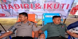 Stok Darah Minim, Ratusan Prajurit TNI AD Korem 011 Lilawangsa Lhokseumawe Lakukan Donor Darah