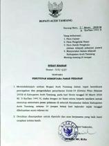 Cegah Covid-19, Bupati Aceh Tamiang KeluarkanEdaran, Tutup Sementara Pasar Pekanan