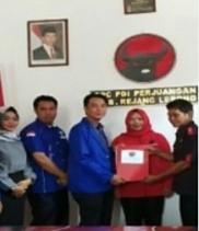 Maju Pilbup, PLT Ketua PAN REJANG LEBONG Pinang PDIP DAERAH