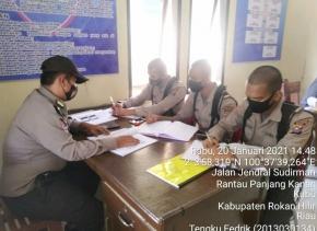 Sebanyak 20 Personel Siswa Diktuba Polri Laksanakan Kegiatan Orientasi di Polres Rohil