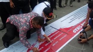 DPD Projo Riau Ikut Peduli NKRI dan Cinta Perdamaian di Lancang Kuning