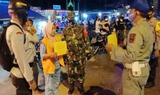 Pelaksanaan Prokes, Tim Gabungan Laksanakan Giat Operasi Yustisi