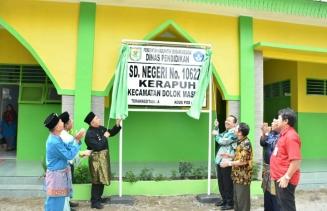 Peresmian Renovasi SD Negeri 106224 Desa Kerapuh, dan Pencanangan Sekolah Ramah HAM