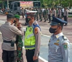 Dandim 0302/Inhu Hadiri Apel Gelar Pasukan Ops Patuh Lancang Kuning 2021