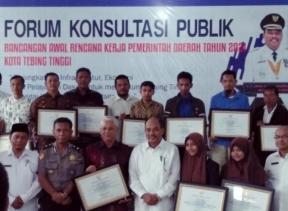Walikota Tebing Tinggi Buka Forum Konsultasi Publik