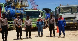 Polres Rohil Melakukan Patroli Skala Besar Pengamanan di Lokasi Obyek Vital Nasional