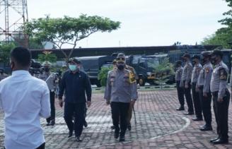 Kapolres Rohil Pimpin Apel Gelar Pasukan Operasi Patuh Lancang Kuning Tahun 2021