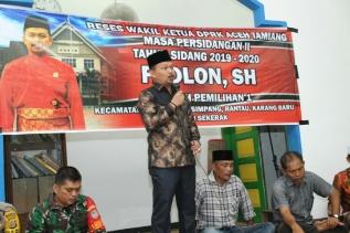 Demi Serap Aspirasi Masyarakat, Wakil Ketua DPRK Aceh Tamiang, Fadlon Reses Di Kampung Landuh