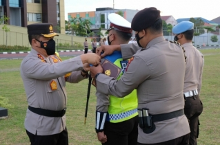 Tingkatkan Disiplin Prokes dan Tertib Berlalu Lintas, Polda Riau Gelar Ops Patuh Lancang Kuning 2021