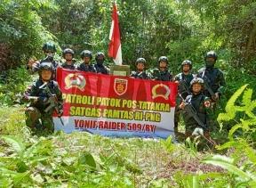 Satgas Pamtas RI-PNG Yonif  Raider 509 Pos Tatakra Laksanakan Patroli