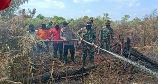 Dandim 0302/Inhu Pimpin Langsung Pemadaman Kebakaran Hutan dan Lahan