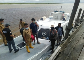 Polres Rohil Laksanakan Pemantauan ke TPS di Wilayah Kecamatan Sinaboi