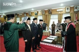 Tiga Pimpinan dan Satu Anggota DPRD Tebing Tinggi dilantik