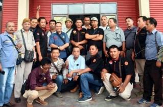Aksi Solidaritas, Puluhan Wartawan Datangi Mapolres Tebingtinggi