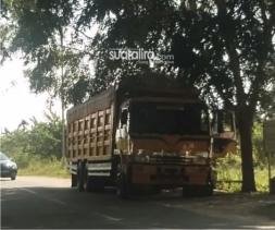Truk Bebas Keluar Masuk dan Bongkar Muat di Komplek Perkantoran Bupati Aceh Tamiang