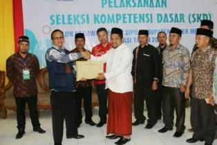 Bupati Sarkawi Terima Hasil SKD dari Panselnas BKN Regional XIII Aceh