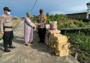 Polsek Panipahan Laksanakan Bakti Sosial Untuk Pembangunan Rumah Suluk Naksabandiyah