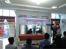Penandatangan Komitmen Fakta Integritas Manajemen PLN UP3 Pematang Siantar ULP Tebingtinggi dan Mitra Kerja