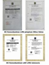 SK Kemenkumham Antara LSM LIRA Indonesia Dengan Lumbung Informasi Rakyat (LIRA) Beda